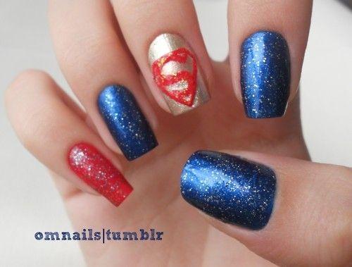Superman ! :) make-up-nails