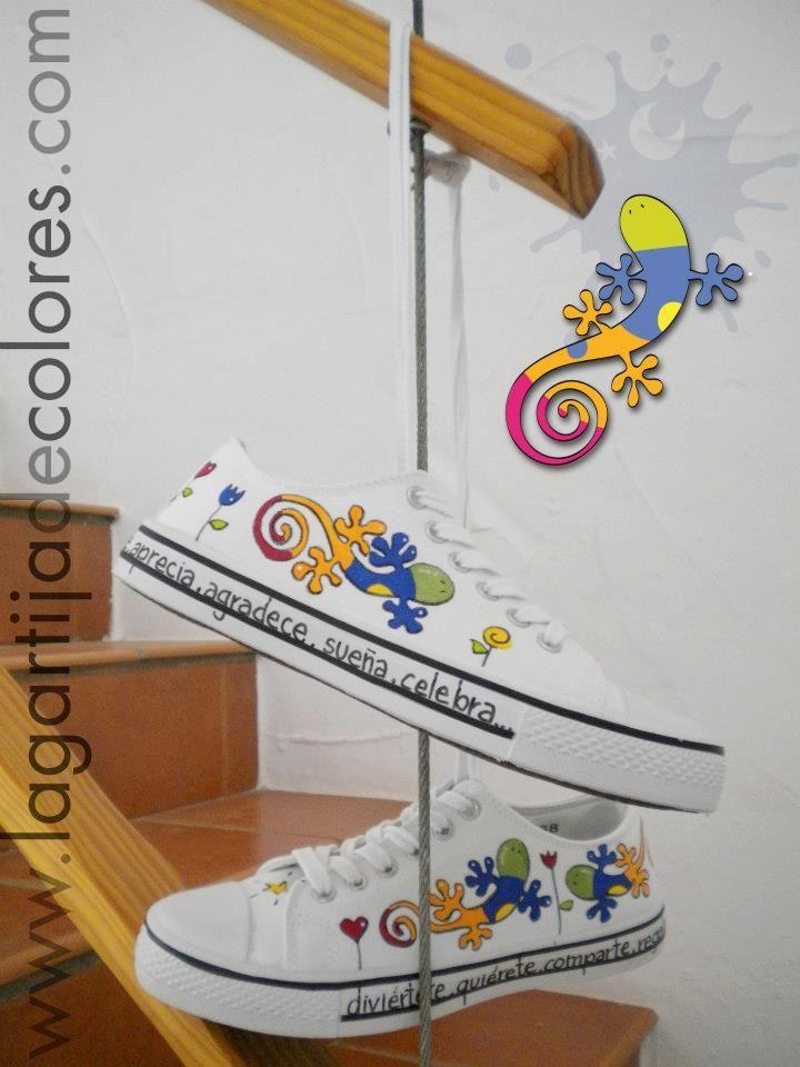 Ms de 25 ideas increbles sobre Zapatillas pintadas en Pinterest