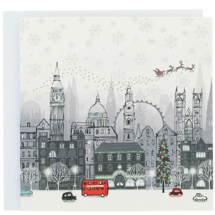 London Christmas card from Paperchase. Love London. Love Paperchase. @Kristi Whitacre