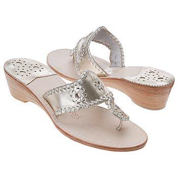 Jack Rogers Navajo Mid Wedge Sandals (Platinum) - Women's Sandals - 9.0 M