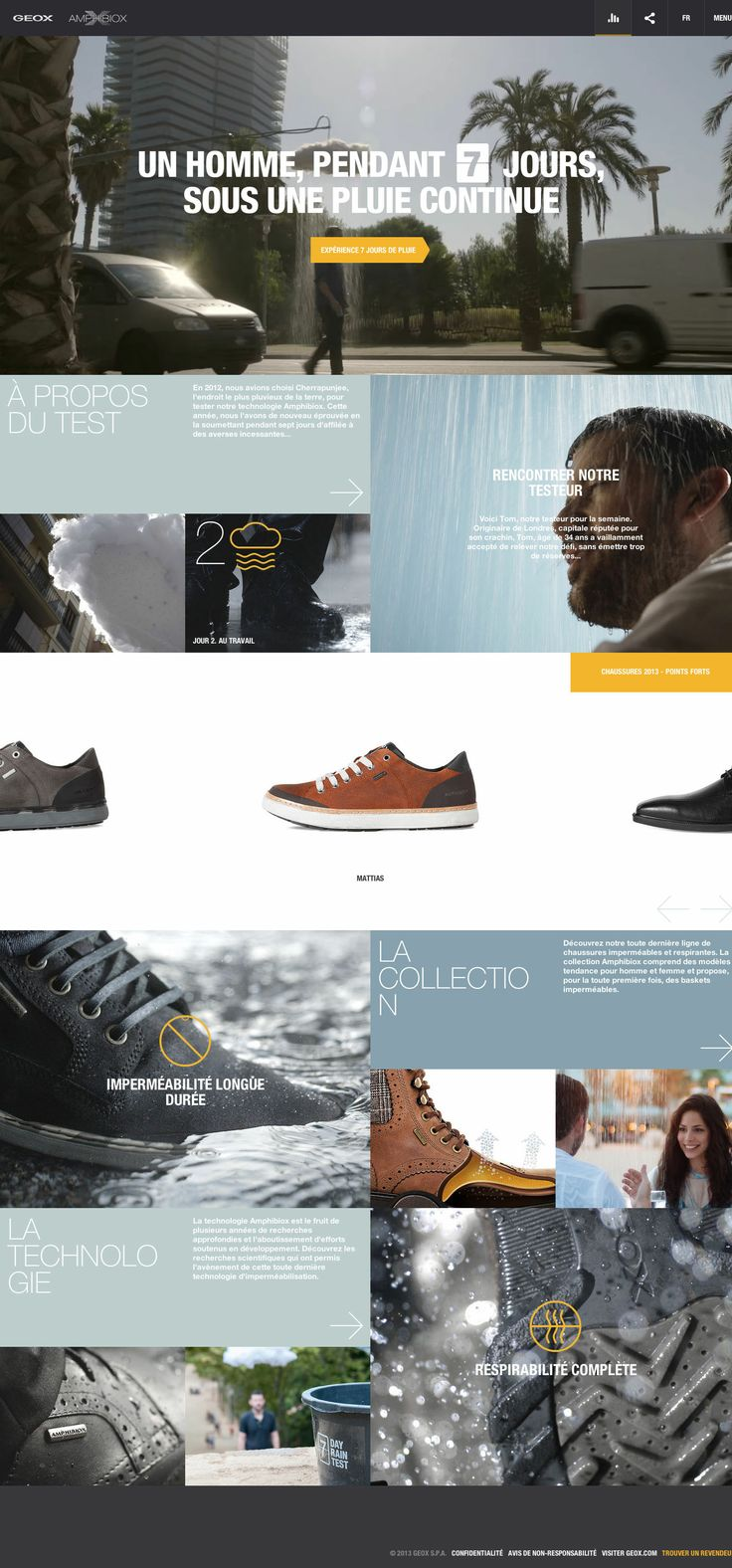Geox - Amphibiox \\ Beautiful website & cool grid. http://amphibiox.geox.com/amphibiox2013