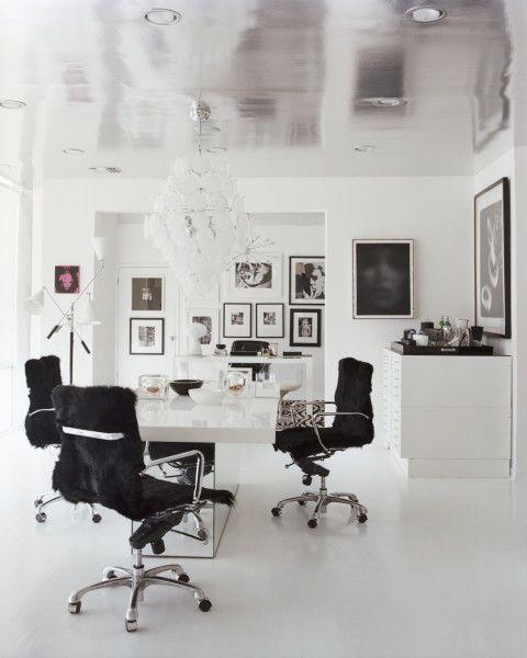 fancy black & white office!   The Decorista-Domestic Bliss
