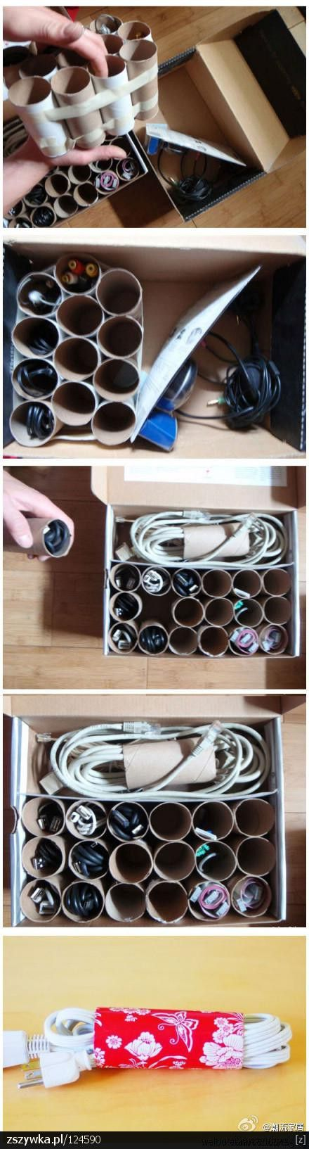 For cables and cords.