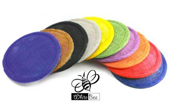Sinamay Fascinator base  Round  mixed colours  10 by WhiteBea, $75.00