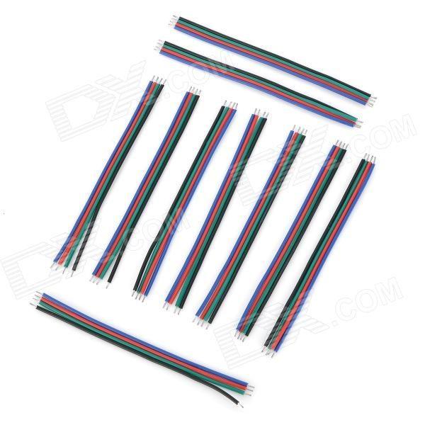 4-Pin Extension DIY câble de connexion de fil pour la bande de LED RVB (10 PCS)