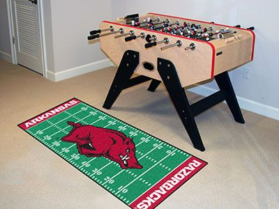 The Arkansas Razorbacks Football Field Runner Area Rug by FanMats - University of Arkansas
