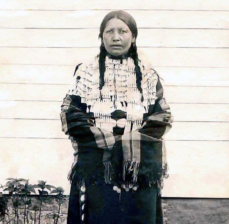 Black Shawl, Crazy Horse's only wife. Photo taken around 1888.