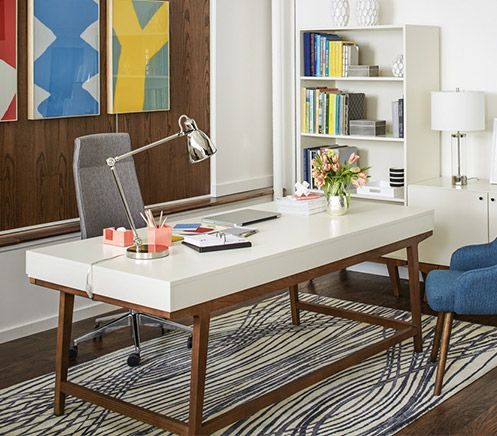 1000 images about west elm workspace with inscape on pinterest blue gold industrial and - West elm office desk ...