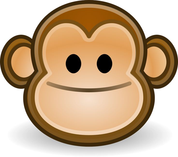Monkey Smile Happy Face Icon transparent image