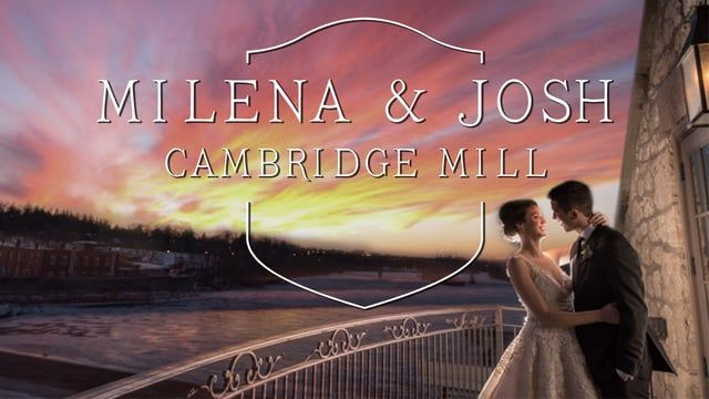 Cambridge Mill Wedding Videography by KW wedding photographer Jeremy Daly captures a beautiful winter wedding.  I love the Cambridge Mill, it's stunning view of the river alongside of its versatility amazes me. Their staff is always there to make sure the wedding goes smoothly, I can't wait to shoot here again.