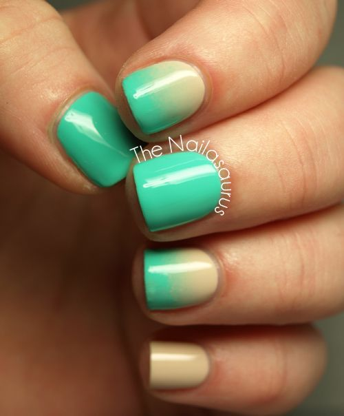 Aqua Nail Art: 722 Best Nails* Gradient/ombré/French Tips Images On