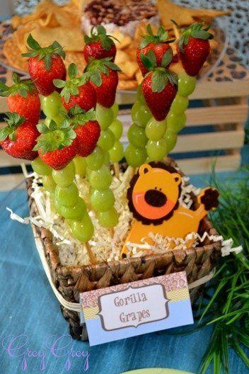 Lion Baby Shower Fruit Kabob Decoration....i Did I Something Like This