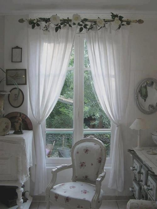 1000 Images About Shabby Chic Curtains On Pinterest