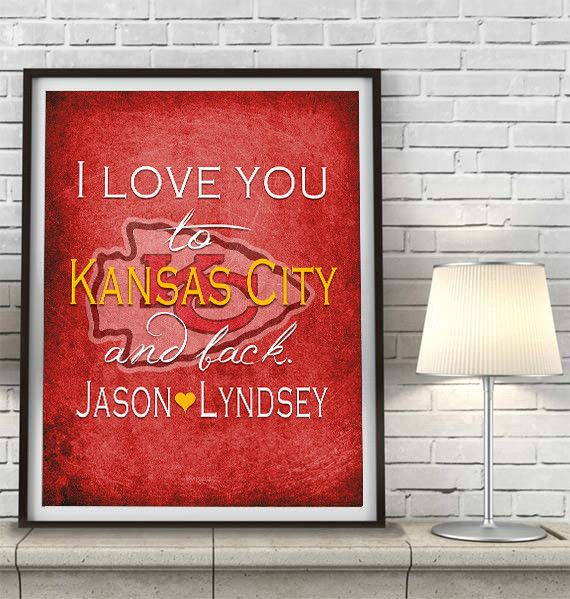 86 best kansas city chiefs images on pinterest kansas city kansas city chiefs i love you to kansas city and back art print poster gift negle Choice Image