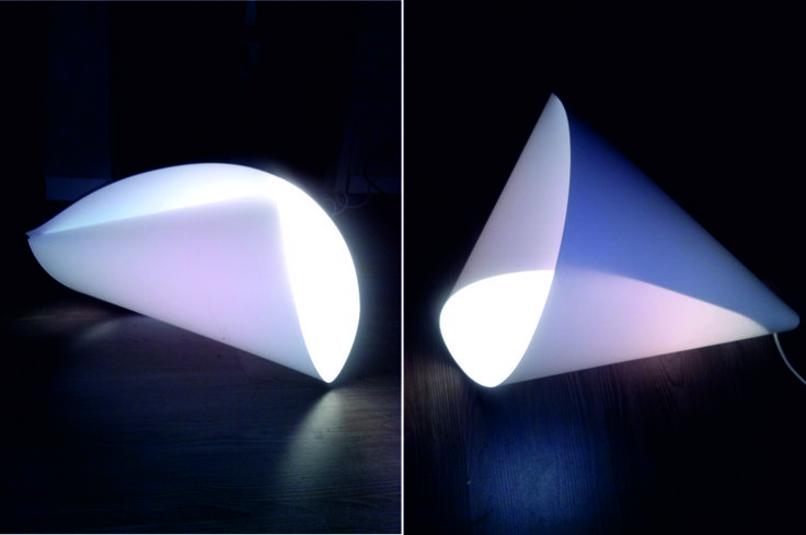 """""""Rollalamp"""" one sheet one lamp"""
