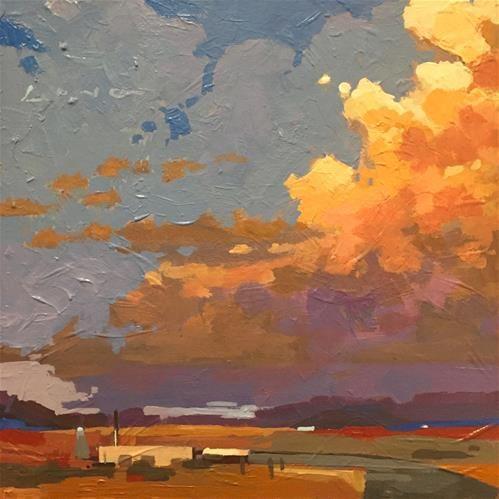 "Daily Paintworks - ""New Mexico V"" - Original Fine Art for Sale - © Chris Long"