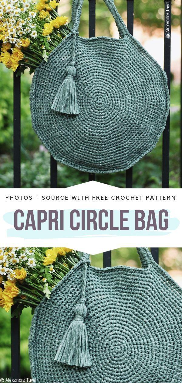 Circular Crochet Bags Free Patterns
