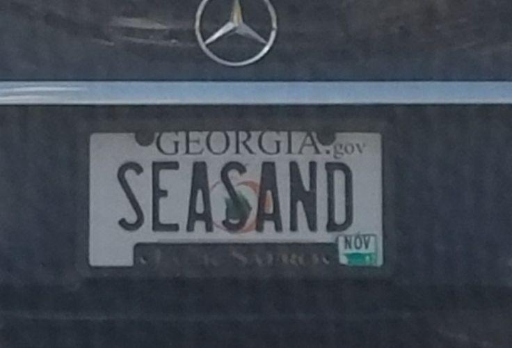 SEASAND licence plate