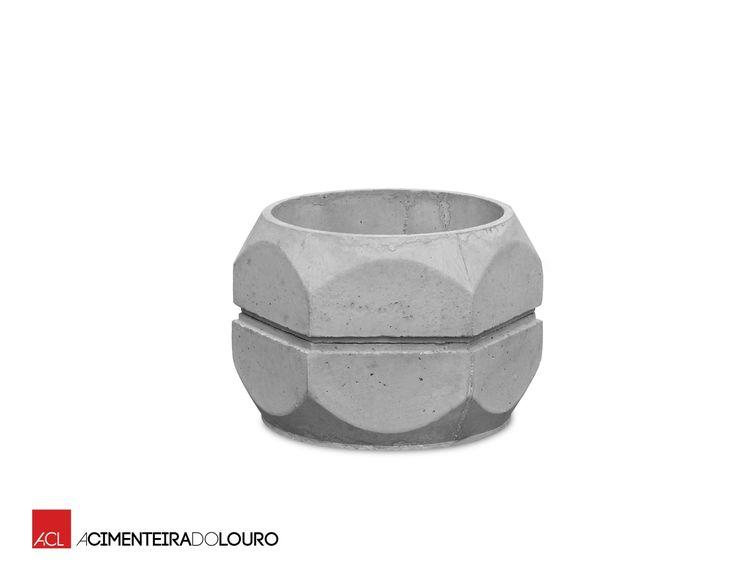 Floreira de betão - Hexagonal Nº1 Concrete Flower Pot - Hexagonal Nº1