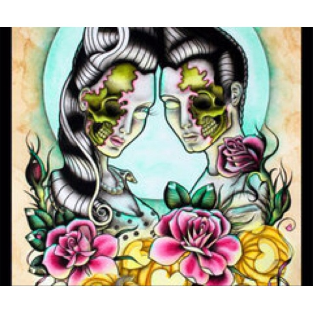 Zombie rockabilly couple | Art | Pinterest | Rockabilly ...