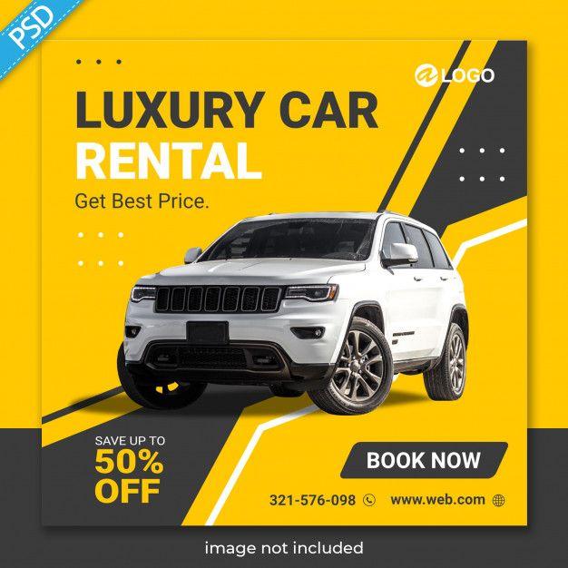Rent Car For Social Media Instagram Post Banner Template Premium Social Media Design Graphics Social Media Instagram Banner Template
