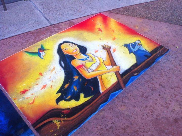 disney sidewalk art