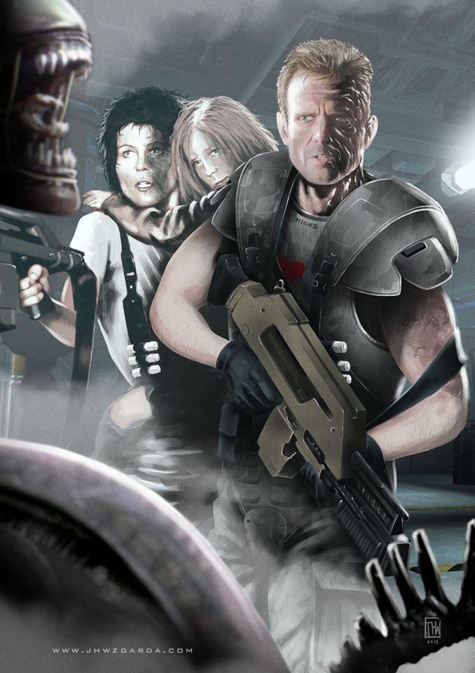 Incredible Alien 5 Fan Artwork Resurrects Ripley, Hicks and Newt! | Alien 5 News