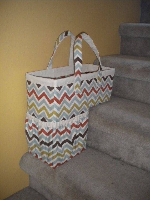 ***THIS LISTING IS NOT FOR A FINISHED ITEM - IT IS A SEWING PATTERN***  If you have a busy house like mine, you know how often items find their way upstairs when they need to be down and vice versa. Throwing those loose items on the stairs to take later is unsafe and messy. Keep your stairs clutter-free with this decorative and functional stair basket. Just load with all those items that need to go upstairs (or down!) and take them all in one trip. This basket is a fun to make and the…