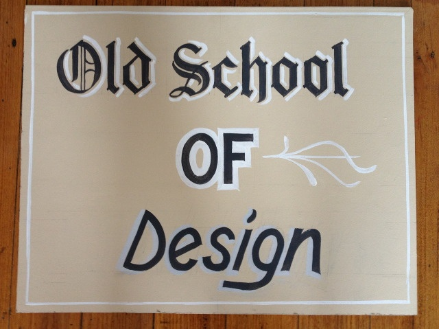 Hand Lettering Workshop 2013 - Old School - The New School for Graphic Design & Typography Melbourne