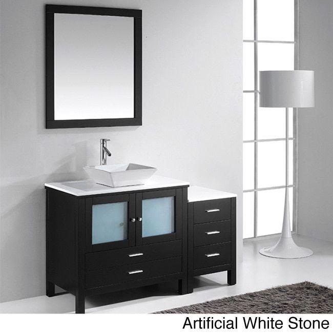 Virtu USA Brentford 54-inch Single Sink Bathroom Vanity Set
