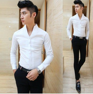 Find More Casual Shirts Information about Aliexpress Retail Fashions Men's V neck Dress Party Evening Club Sexy Shirt Slim Fit Black White Red Wholesale,High Quality fit media,China fitted college baseball hats Suppliers, Cheap shirt lace from HOTI STYLE on Aliexpress.com