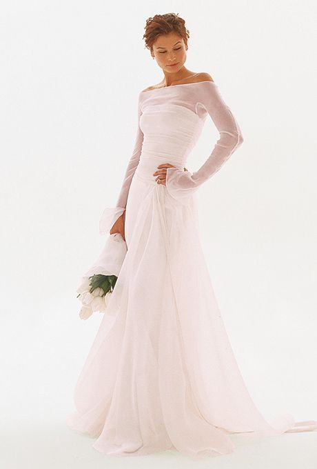 Colorful Wedding Gowns for the Older Bride. #secondwedding #color #dresses