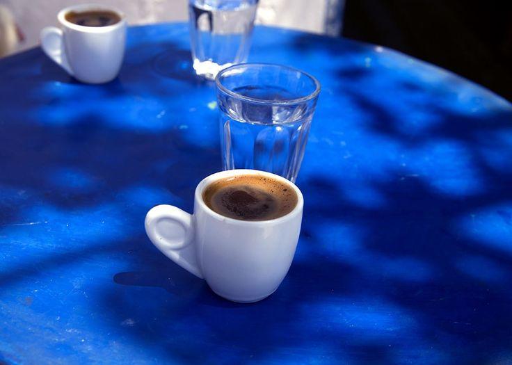 Greek coffee at Kafenio, Ano Elounda, Crete