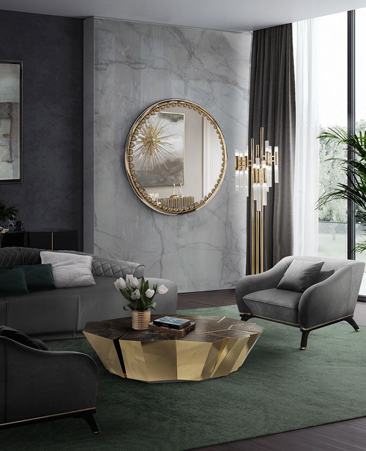 Crackle Center Table With Images Luxury Living Room Gold Living Room Decor Trendy Living Rooms