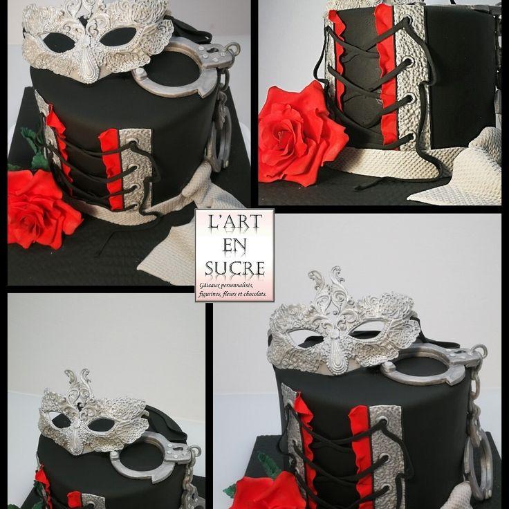 Gâteau 50 nuances de Grey 50 shades of Grey cake