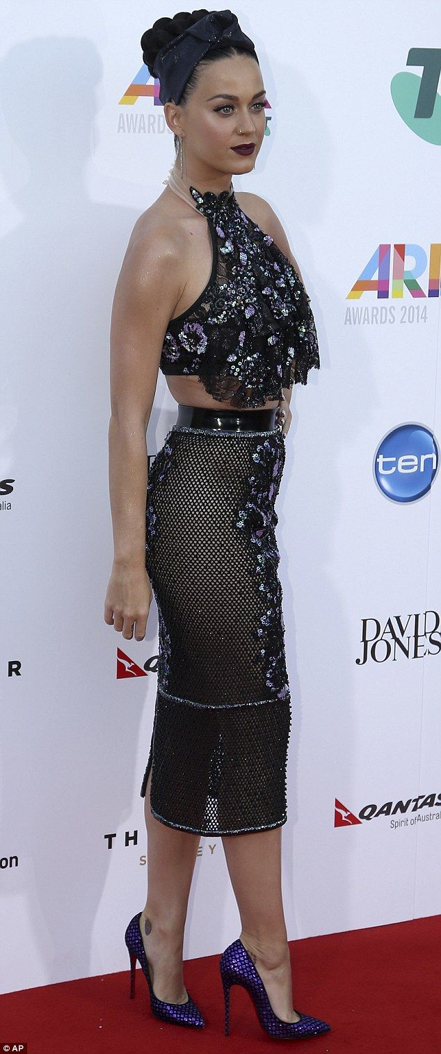 Katy Perry makes a THIRD outfit change at the ARIAs #dailymail