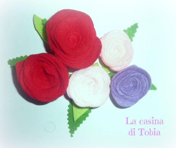 fiori di feltro fatti a mano La Rosa