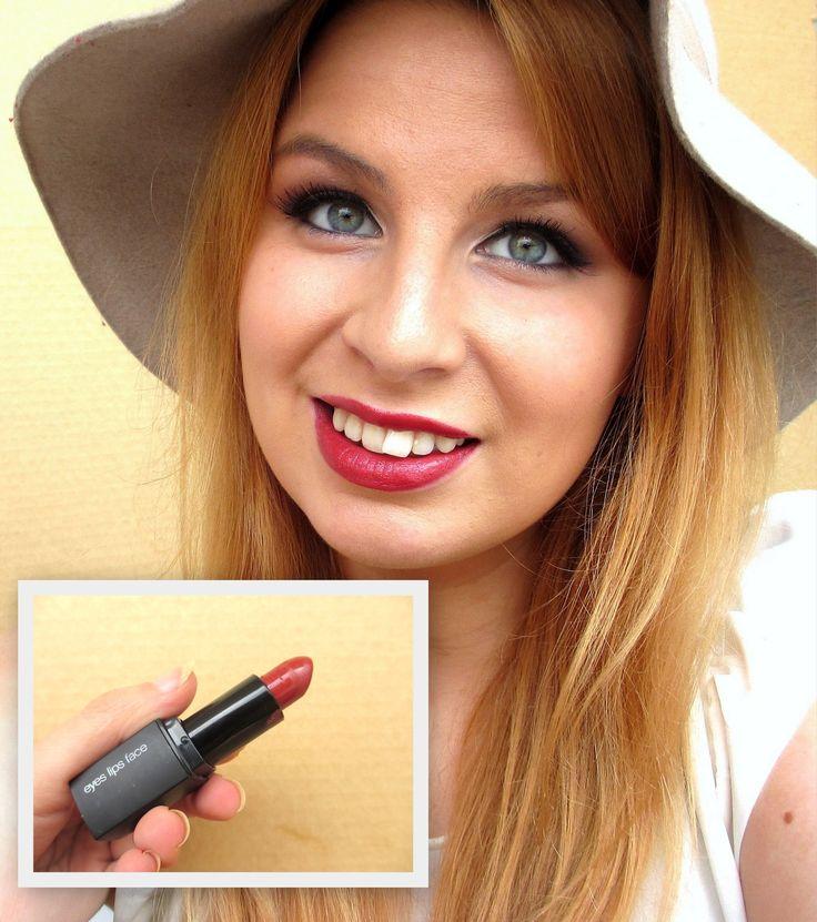 ELF Lipstick Cheerful Cherry  http://thegirlwholovesmakeup.blogspot.fi/2014/09/suosikki-huulipunia-ja-kiiltoja-syksy.html