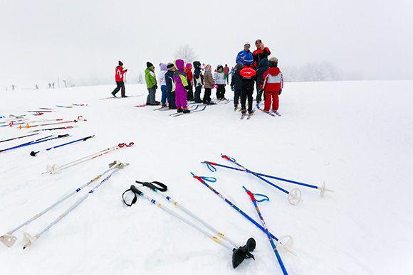 Sci di fondo (foto Luciano Gaudenzio) - Dolomiti Friulane