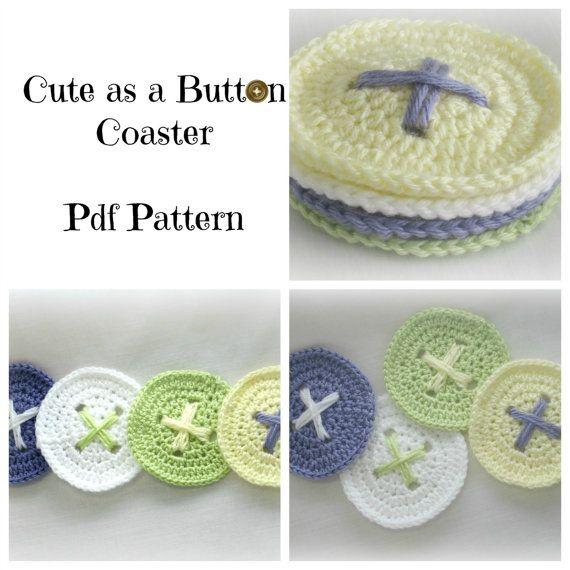 Cute As A Button Coaster *Crochet Pattern*