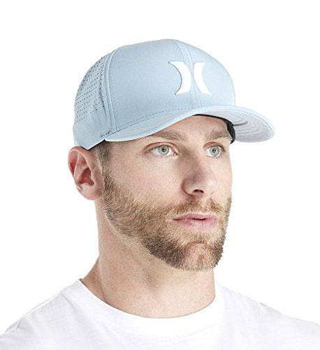 Hurley Mens Black Phantom Vapor Cap  Flexfit Permacurve visor offers a snug, comfortable fit  Recycled Phantom fabric provides 30 percent stretch  Perforated side and back panels for ventilation  Water-repellent finish helps keep you dry  Fabric: 92 percent polyester/8 percent spandex - Hand Wash