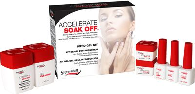 SuperNail's Accelerate Soak Off Intro Kit which includes Instruction Booklet.