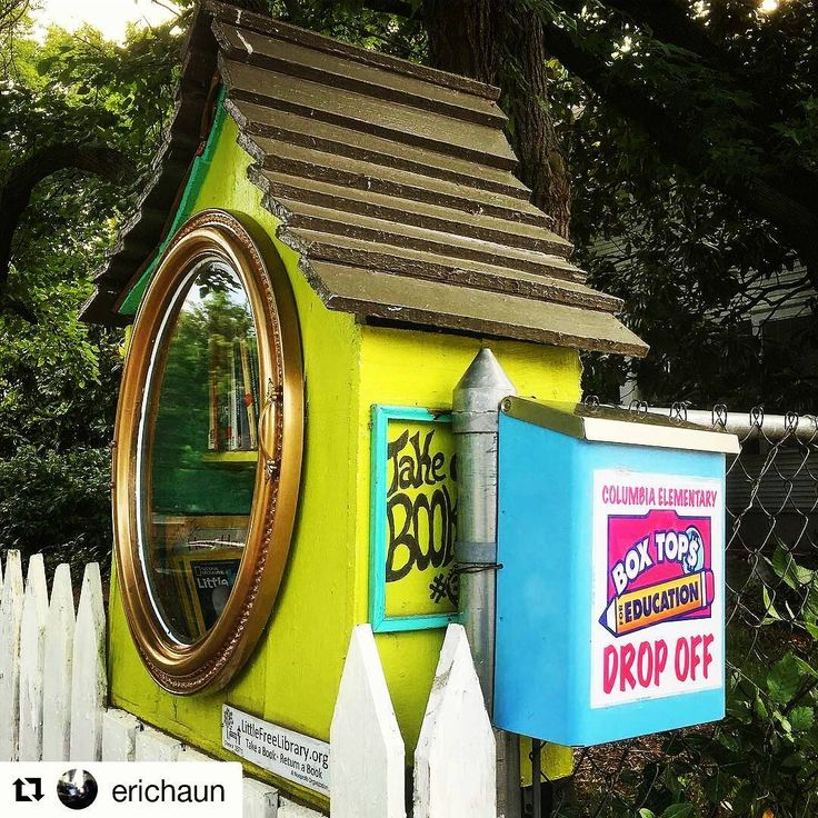 "1,052 Likes, 13 Comments - Little Free Library ® (@littlefreelibrary) on Instagram: ""So many cute accents on this #LittleFreeLibrary!"""