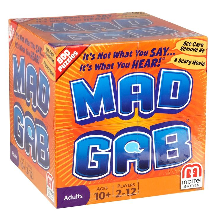 Mad Gab Game by Mattel, Multicolor