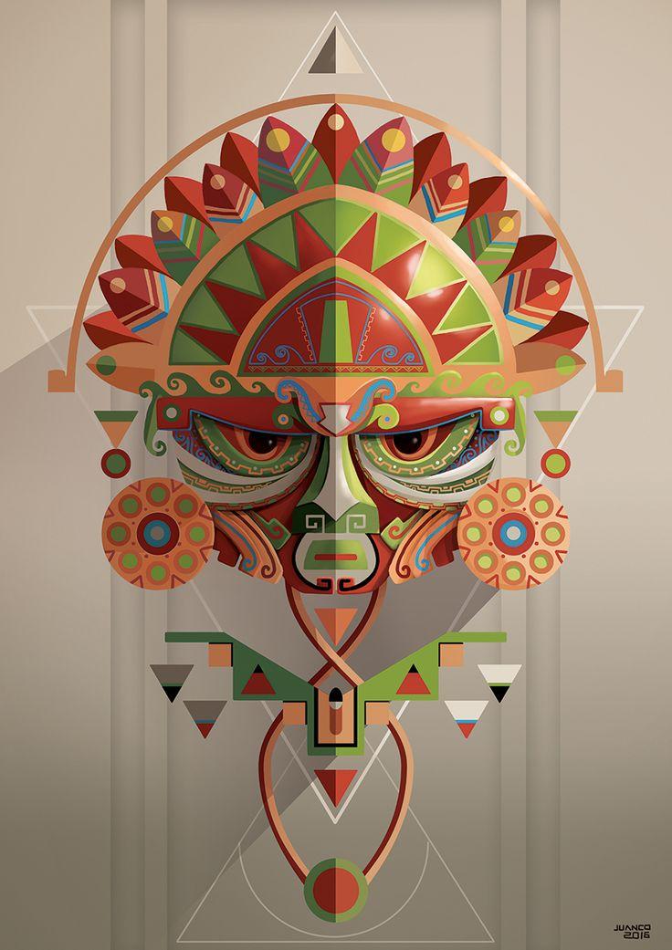 Masks and gods 2 on Behance