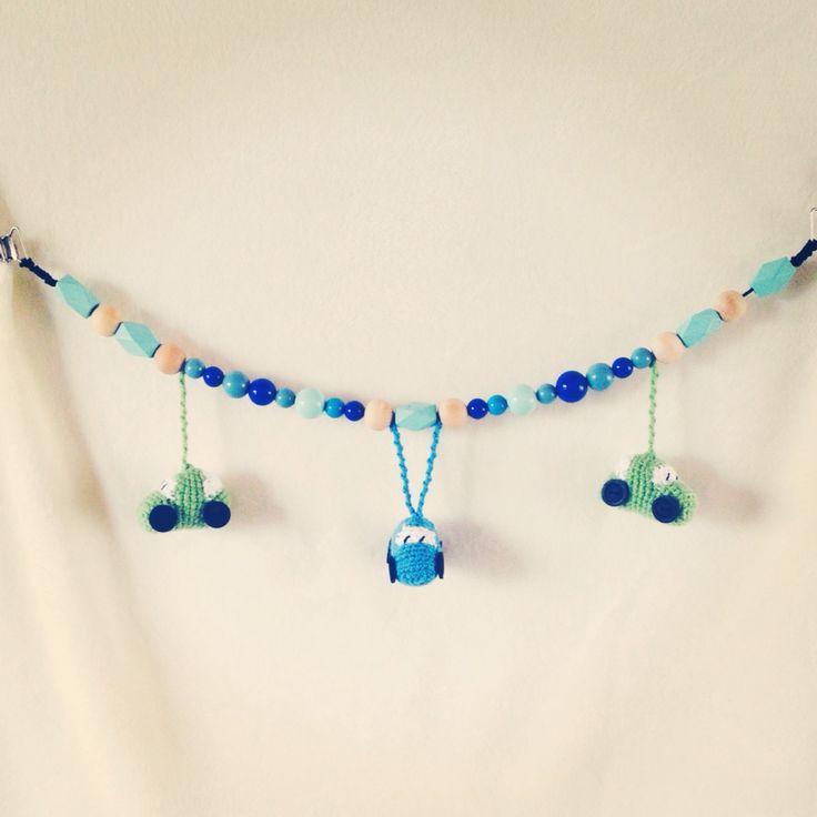 Crochet pram chain  Hæklet barnevognskæde