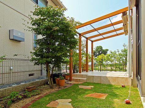 お庭のくつろぎ空間オープンテラス - Smile Garden D's|リフォームガーデンクラブ