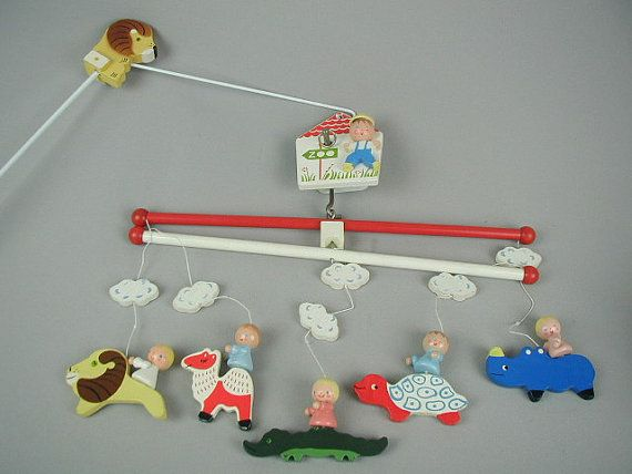 MidCentury Baby Crib Mobile Irmi Animals by ChickenLittleToo, $34.00