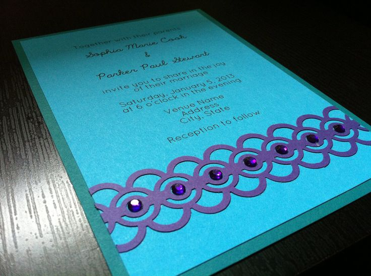 Purple And Blue Wedding Invitations: 1000+ Images About Purple Peacock Wedding Theme On Pinterest