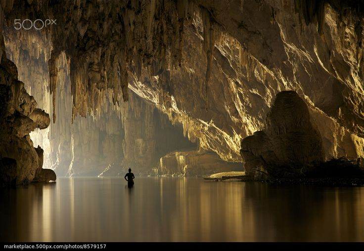 Underground river - stock photo
